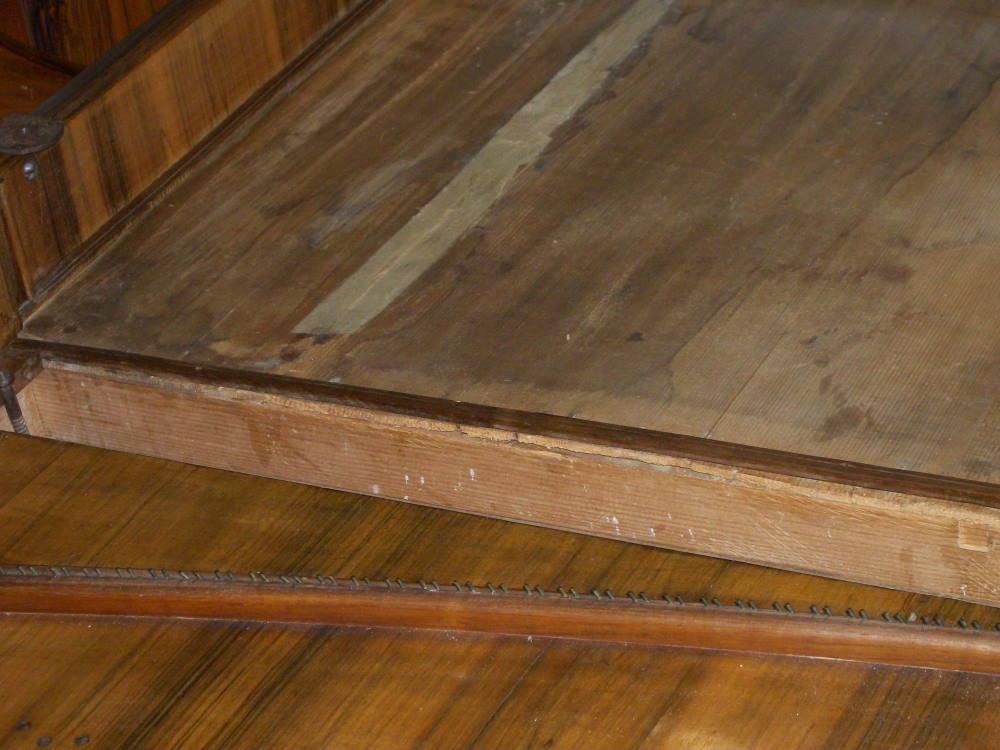 tavola prima del restauro